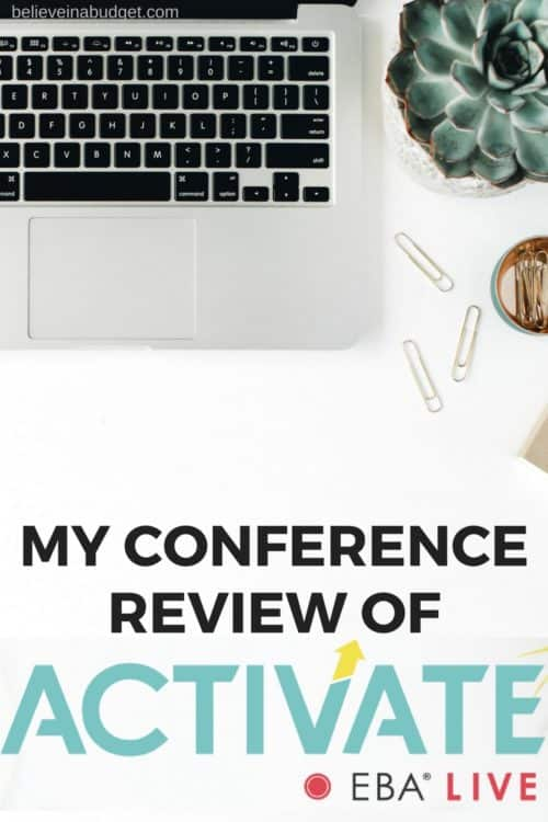 ACTIVATE: EBA Live conference and workshop review. This conference was created because of how popular the Elite Blog Academy course has been for so many bloggers! Read my full review of the ACTIVATE: EBA Live review here!