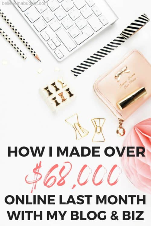 Read my latest online income report. Lear how to make money online and side hustle. This is my highest monthly online income yet after blogging for nearly three years!