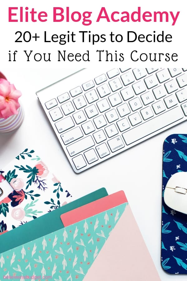 Elite Blog Academy is an online blogging course that includes a private Facebook group. I'm sharing over twenty personal tips about how to decide if you should sign up for Elite Blog Academy. You'll learn how to start a blog, make money blogging, work from home and more!