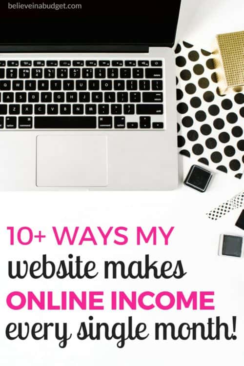 Learn how to make money online with blogging! I'm sharing my monthly online income report and all the different ways to make online income. Blogging can be a great side hustle! If you want to learn more, read all these free and helpful tips on how to make money online!