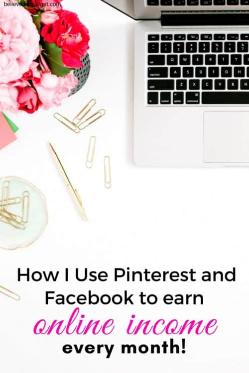 Here is my recent online income report. I'm sharing how I make money online from blogging. One way I make money online is from Pinterest and Facebook. Get the tips here!
