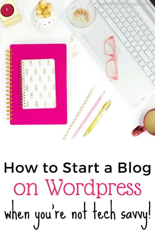 How to start a blog today on WordPress when you're not tech savvy. Don't worry - if I can set up and start a blog in 15 minutes, you can also follow this helpful tutorial about blogging!