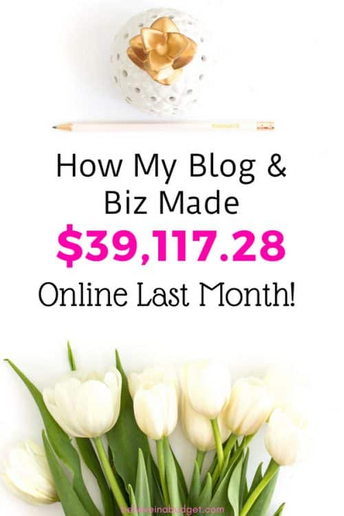 Here is my May online income report. I'm sharing how I made money online last month from my blog and businesses, and can work from home. You will learn all my free tips to help you make money online!