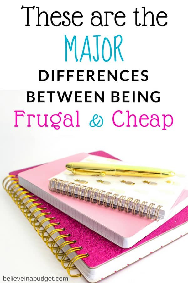 Learn if you are cheap or frugal based on your budget.