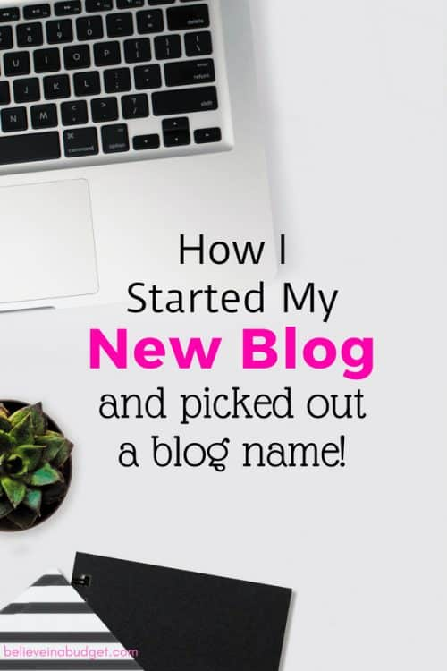 How to start a blog and pick out a blog name! Here's a list of blogging ideas - these are so helpful!