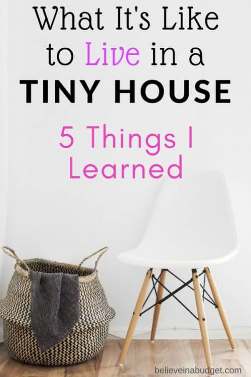 Here are five things I learned when I decided I wanted to try to live in a tiny house!