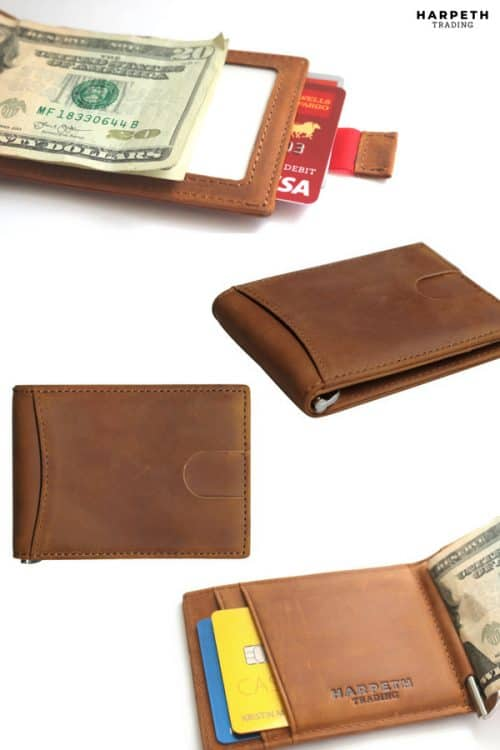 Men's leather wallet is the perfect holiday gift or the perfect present for special occasions!