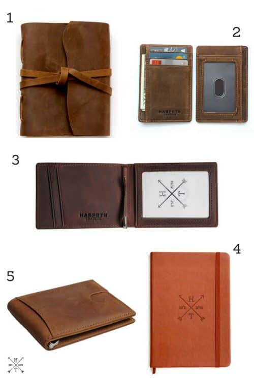 Gift Guide for Leather Wallets, Sketchbooks and Notebooks. Handmade, vintage vibe and perfect for gift giving or yourself!