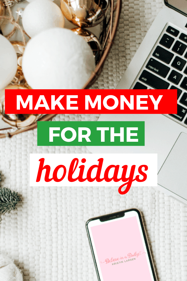 Learn how to make money for the holidays and avoid going into debt. These helpful side hustle tips will help you be prepared for Christmas!