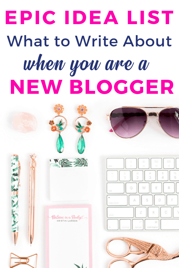 This is an epic list of what to write about as a new blogger. Learn how to pick a blogging niche and create a list of topics to blog about. This is perfect for new bloggers or bloggers that need more help!