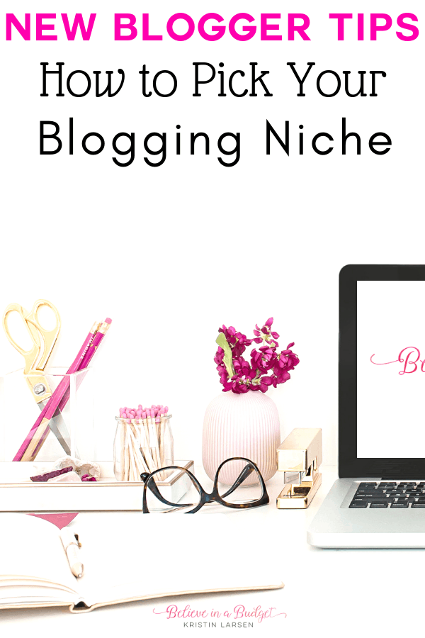 Here are some great new blogger writing tips. It's how I picked my blogging niche and topics. There's also a list of writing ideas to help new bloggers get started!