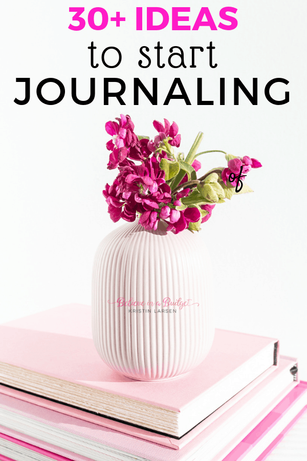 Learn how to start journaling with over thirty journaling ideas. You will also learn how to pick a journal, other ways to use your journal and keys to getting started.