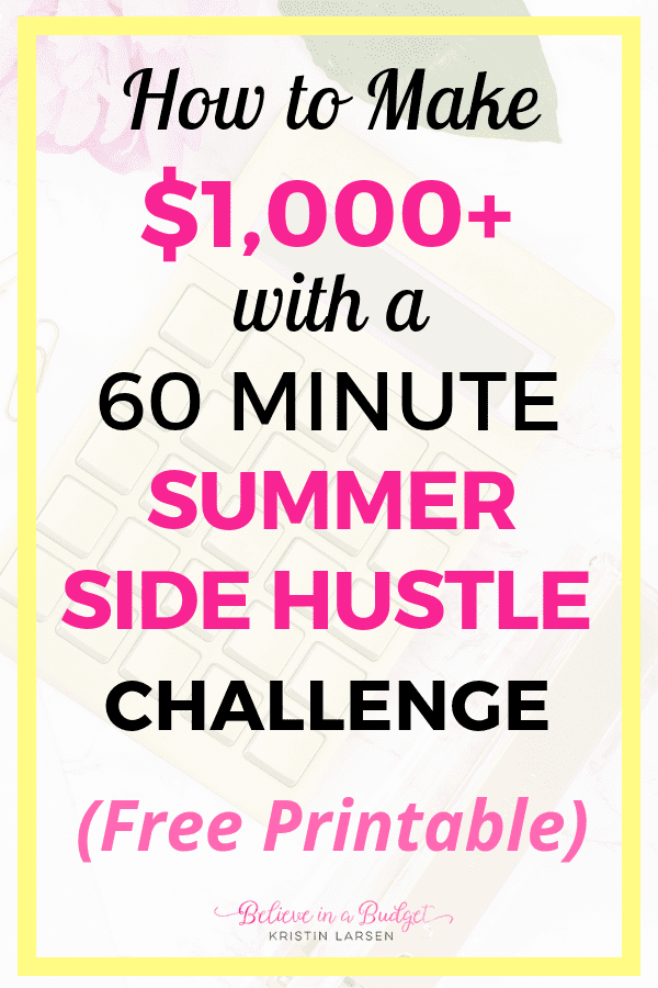 Learn how to make $1,000 or more with a summer side hustle that will only take you one hour per week.