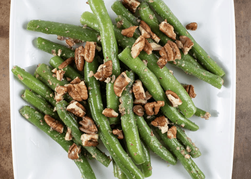 Maple Pecan Green Beans Forget Sugar Friday