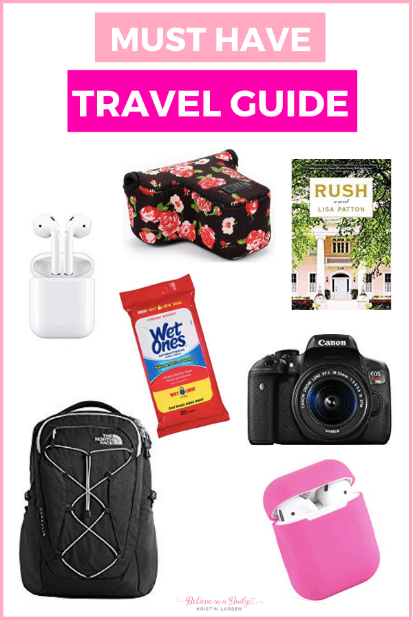 When traveling on vacation or heading to a workcation, here is a list of travel must haves.
